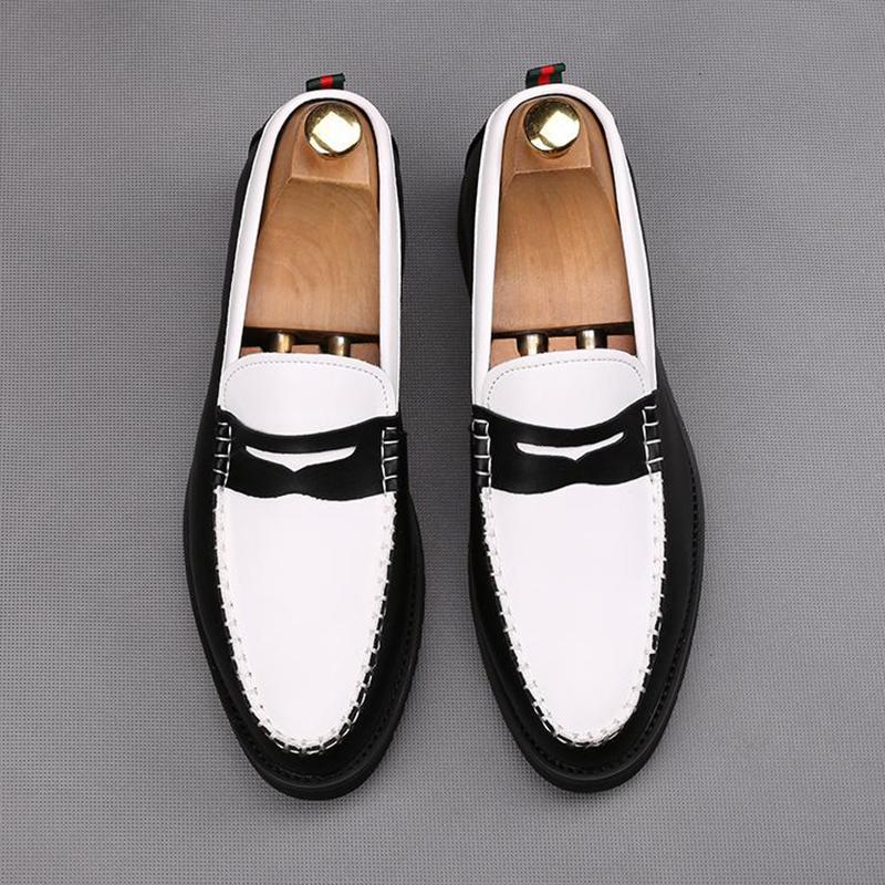 Stitching Fashion Slip-On Heightening Shoes