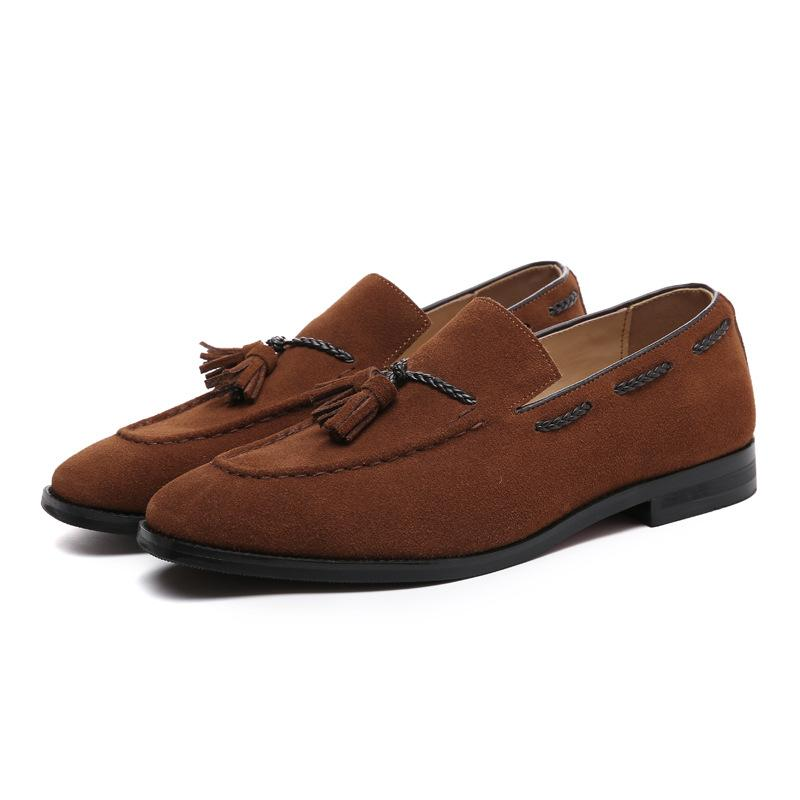 Suede Leather Tassels Breathable Slip-on loafers
