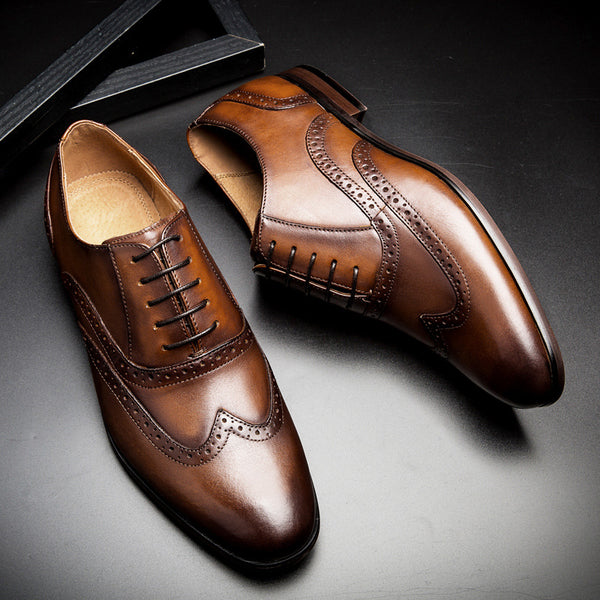 Men's Pointed Toe Wedding Dress Business Shoes