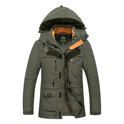 Large Size Waterproof and Breathable Hooded Stand Collar Jacket