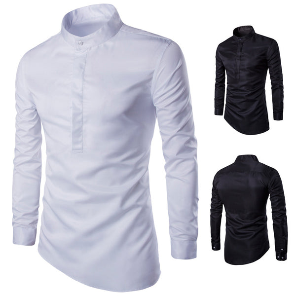 New Fashion Slim Collar Long Sleeve Shirt