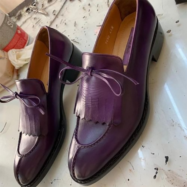 Men's Handmade Fringe Split Toe Shoes