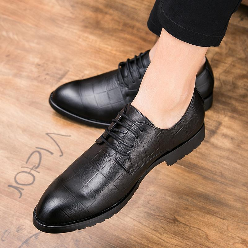 Men Italian Leather Office Business Shoes