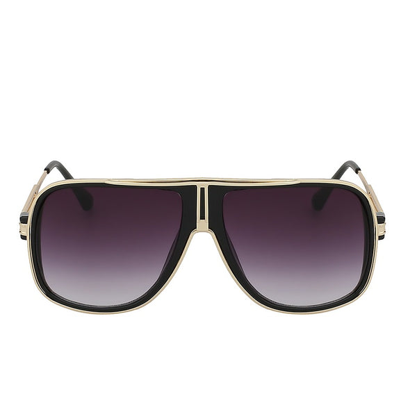 Stylish Comfortable Square Gold Sunglasses