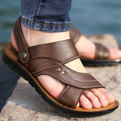 Summer Leather Comfortable Slip-on Beach Shoes