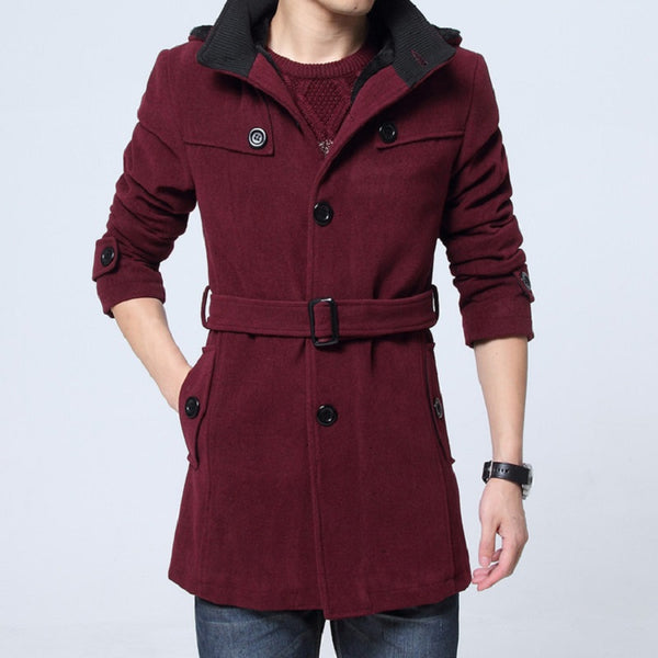 Plus Velvet Thick Warm Trendy Woolen Coat