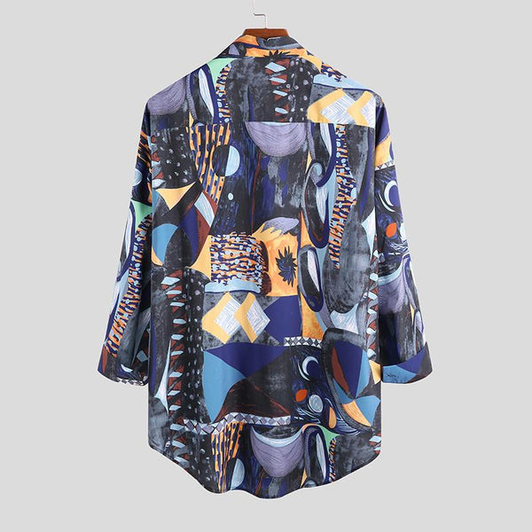 Korean Loose Lapel Hawaiian Fashion Shirt