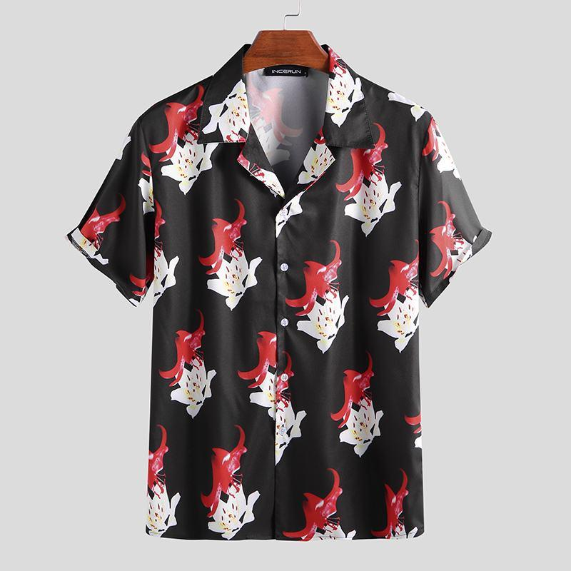 Hawaiian Printed Lapel Breathable Short Sleeve Shirt