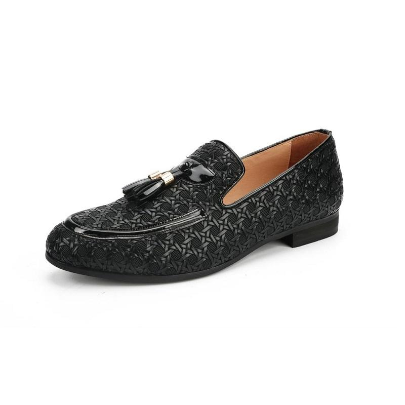 Italian Luxury Woven Leather Driving Shoes