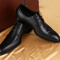 Trendy Pointed Business Dress Genuine Leather Shoes