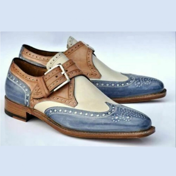 Men's Fashion Leather Buckle Oxford Shoes