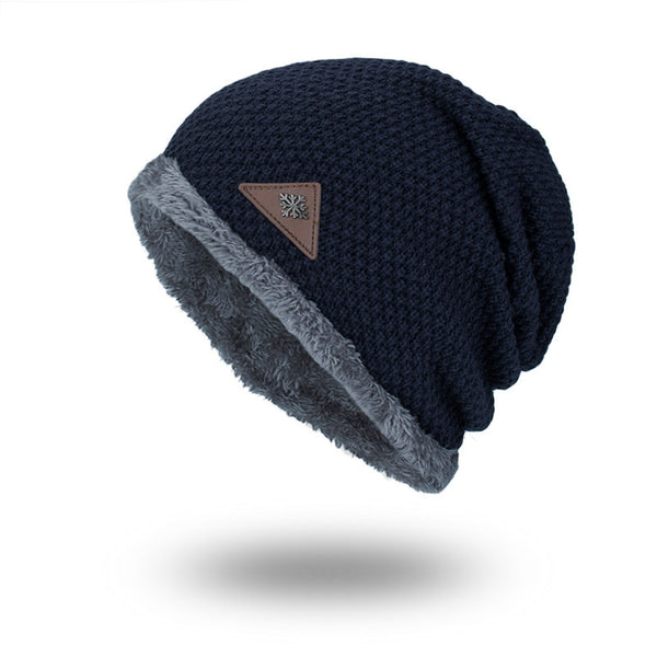 Winter Plus Velvet Knit Solid Outdoor Warm Caps