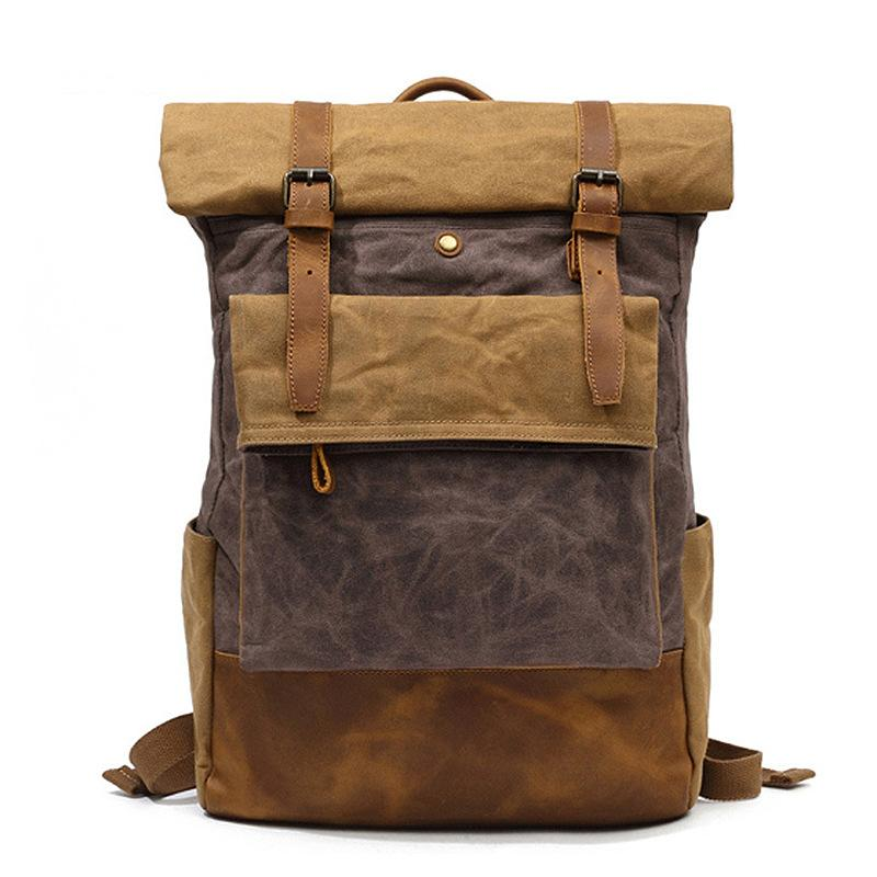 Men's Outdoor Travel Casual Canvas Backpack
