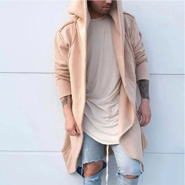Fashion Loose Plain Long Coats