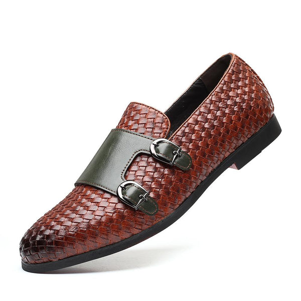 Men PU Leather Formal Loafers Driving Shoes