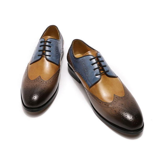 Luxury Pointed Lace-up Business Dress Shoes