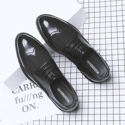 New Mesh Breathable Bullock Leather Shoes