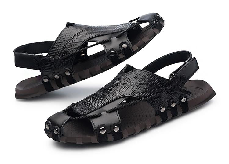 Men Shoes Leather Sandals