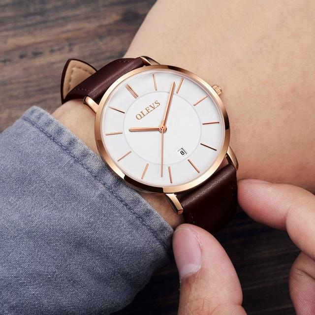 Quartz Leather Strap Wrist Watches