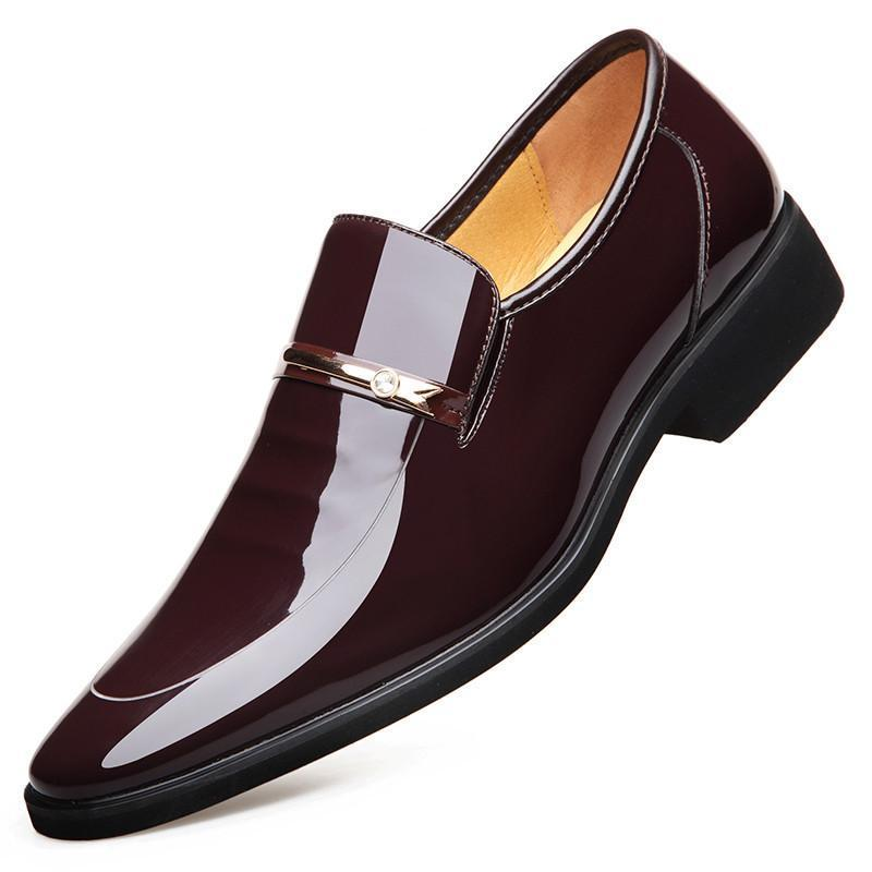Men Dress Leather Shoes Slip On Fashion Male Formal Oxford Shoes Flats Pointed Toe Casual Shoes For Men