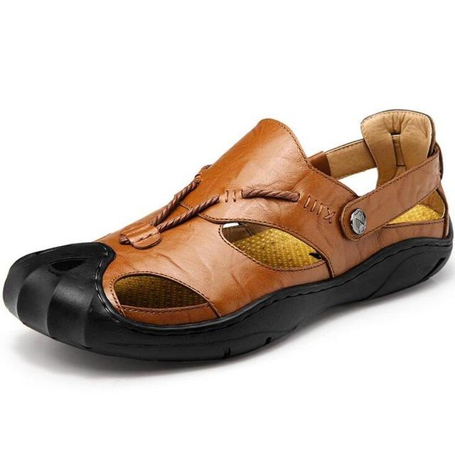 Men Gladiator Cow Leather Sandals Shoes