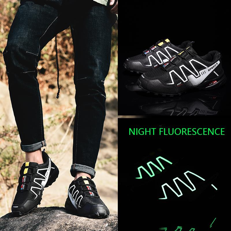 Sneakers Men Breathable Outdoor Casual Shoes Men Mesh Reflective Shoes Glowing Shoes Plus Size 39-48 Sneakers Man