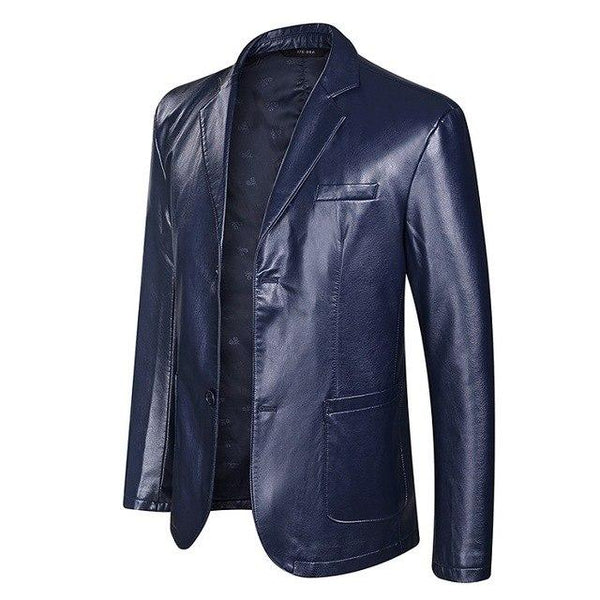 Plus Size Faux Leather Men's Jackets