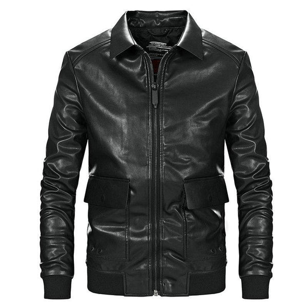 Men Casual Motorcycle PU Jacket