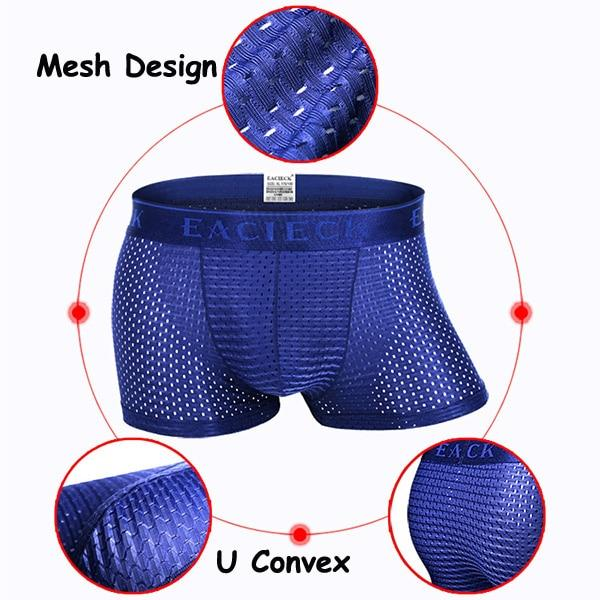 Men Ice Silk Sport Mesh Underpant