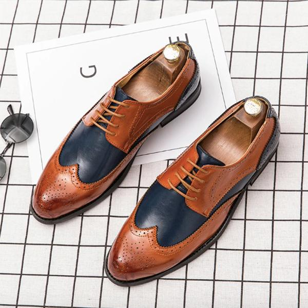 Men's Fashion Business Dress Genuine Leather Shoes