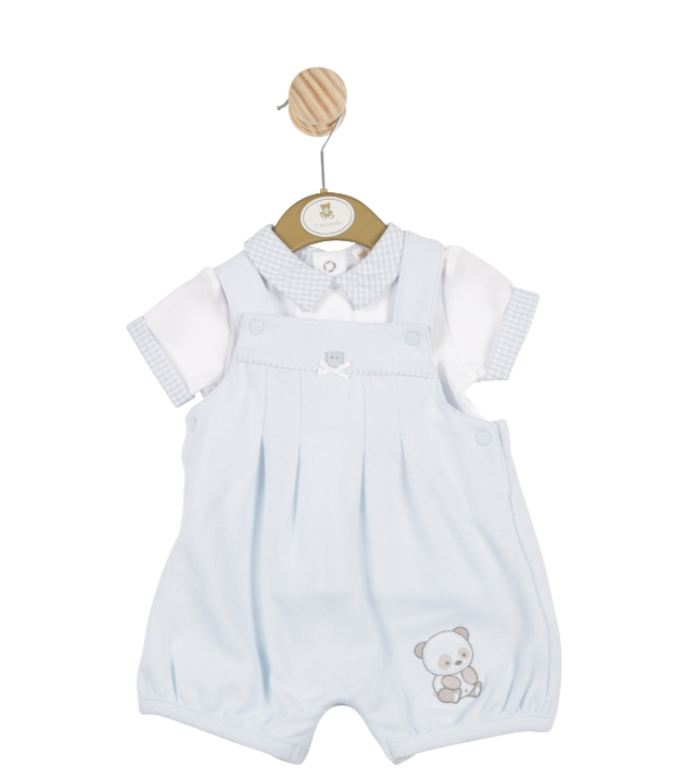 MB3232A | Boys T-Shirt and Bib Shorts Set with Bear Theme