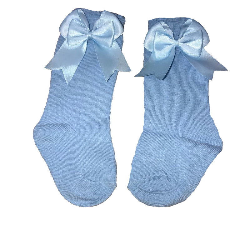 Mintini Baby Light Blue Bow Socks