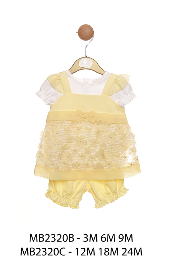 MB2320C | Girls Top, Pinafore & Bloomer