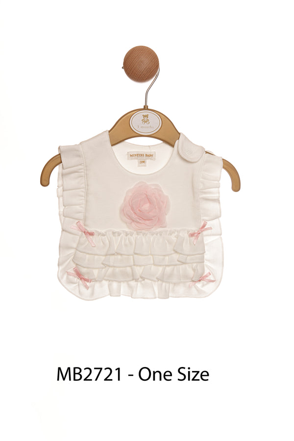 MB2721 | Girls Ivory Bib