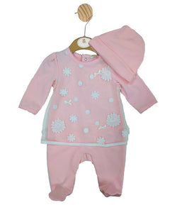 MB3211 | Girls Pink All-in-one and Hat Set - In Stock