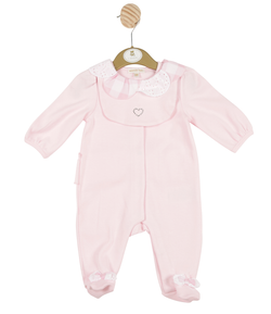 MB3303 | Girls Pink All-in-one with Diamante Heart