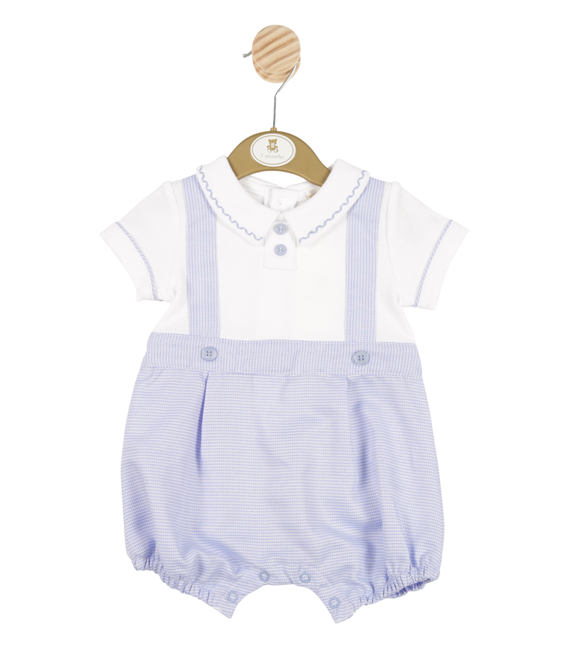 MB3332 | Boys Blue Romper with White Shirt