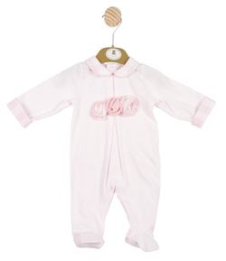 MB3347 - Delivery January | Girls Pink All-in-one with 3D Roses