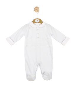MB3381 | Mintini Boys Blue All-in-one with White Collar and Front Button