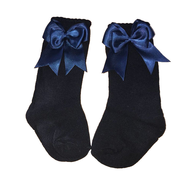 Mintini Baby Navy Bow Socks