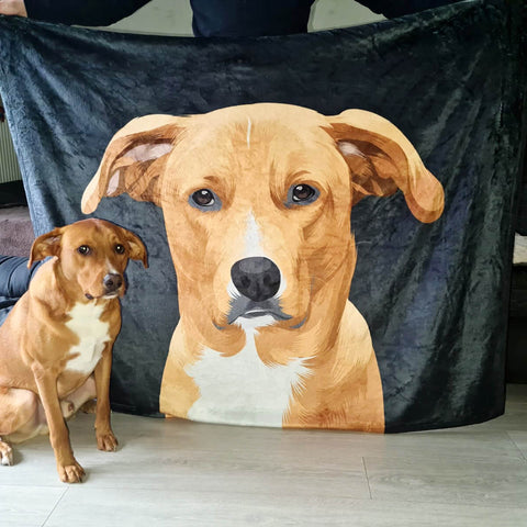 Custom Pet Art Fleece Blanket