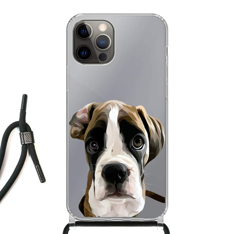 Custom Pet Art Clear Phone Case for iPhone