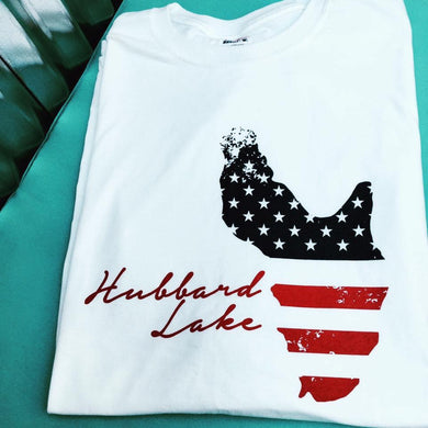 Hubbard Lake Flag shirt