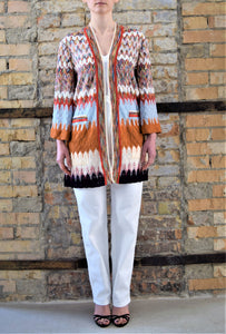 Cardigan multicolore