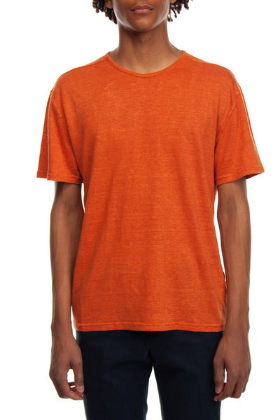 T-shirt  in cotone color papaya