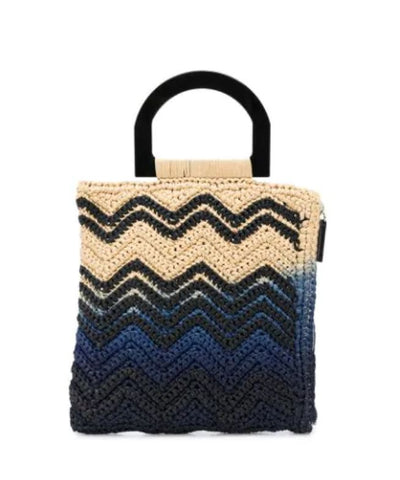 Borsa con design color-block in cotone