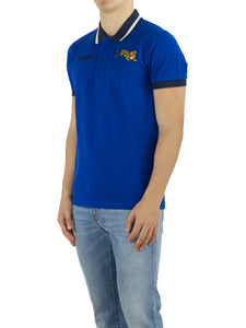 Polo Jumping Tiger in cotone color navy