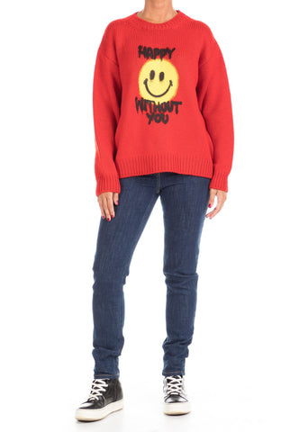 Maglione Happy Without You RED