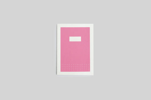 Pink handmade Hanji notebooks with silk screened covers