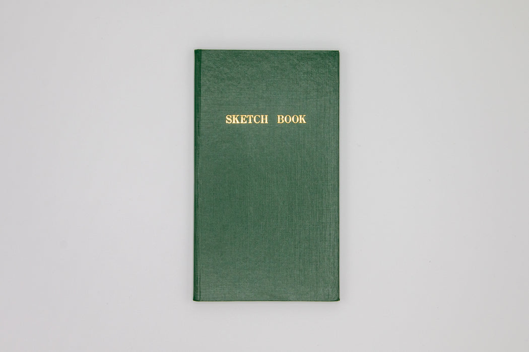 Thin green field sketch book